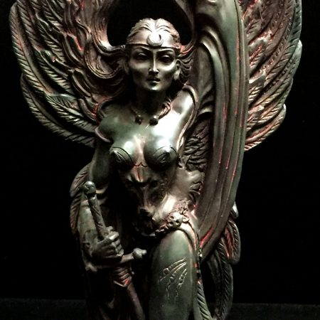 Celtic Goddess of Death and War Morrigan Statue by Maxine Miller