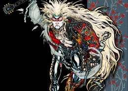 Heavy Metal Lion Dancer: illustration by Maxine Miller