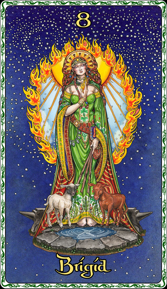 Celtic Oracle Deck (Brigid) - art by Maxine Miller