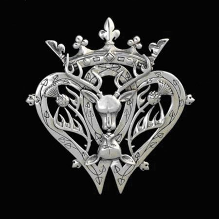 Victorian Scottish Luckenbooth Brooch : design by Maxine Miller