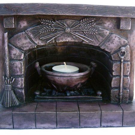 Sacred Magickal Ancestral Hearth Altar Piece by Maxine Miller ©celticjackalope.com