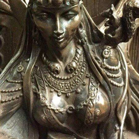 FRONT 2: Maeve / Medb Celtic War and Love Goddess Statue Cold Cast Bronze By Maxine Miller ©Maxine Miller