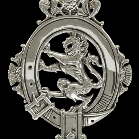 Scottish Lion Rampant and Thistle Belted Victorian Style Pendant