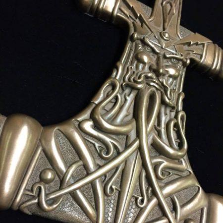 Thor Hammer Mjolnir Wall Plaquecold cast bronze by Maxine Miller ©celticjackalope.com